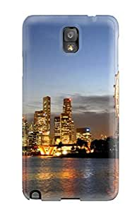 Galaxy Note 3 Case Slim [ultra Fit] Singapore City Protective Case Cover by Maris's Diary