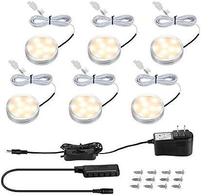 le led under cabinet lighting fixtures puck lights kit 1020 lumens rh amazon com