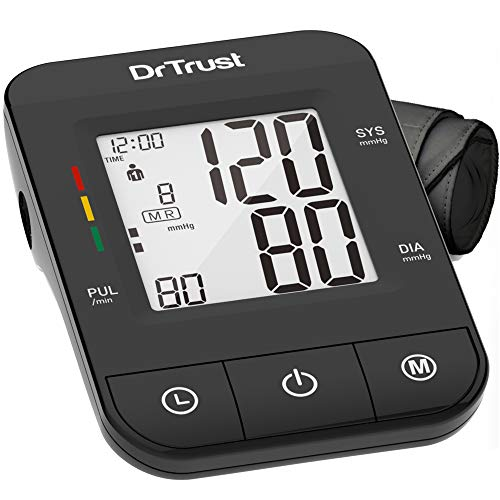 Dr Trust (USA) Fully Automatic Comfort Digital Blood Pressure BP Monitor Machine with Mdi Technology (Black)