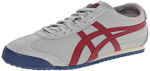 Onitsuka Tiger Mexico 66 Fashion Sneaker, Light Grey/Burgundy, 12.5 M Men's US/14 Women's M - Shop Online Mexico