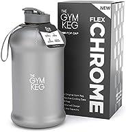 The Gym Keg Sports Water Bottle (2.2 L) Insulated   Half Gallon   Carry Handle   Big Jug Sport, 64oz Hydro Jug