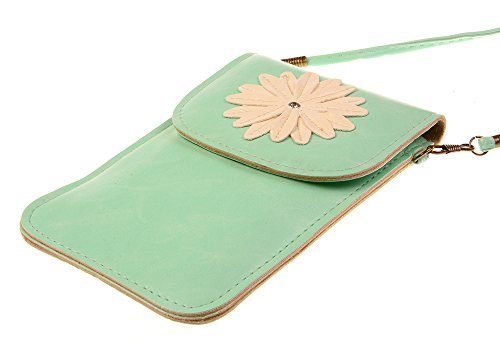 GOLD Crossbody Model Luxury B Bag Leather Mini TM Pouch mintgreen PU Single Cellphone Shoulder Matte KISS 0O1dwx0