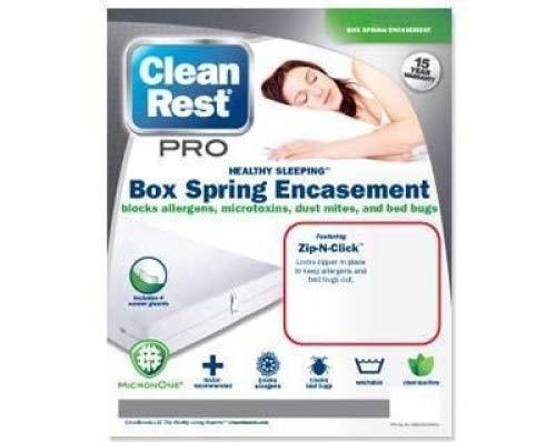 Clean Rest Pro Bed Bug & Allergen Blocking Box Spring Encase