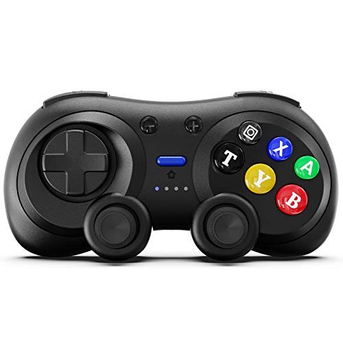 Wireless Switch Pro Controller, BestOff Wireless Controller Remote Gamepad Joystick Retro 6 Button with Gyro and Gravity Sensor, Dual Vibration, Turbo and Capture Function. [Update Version]