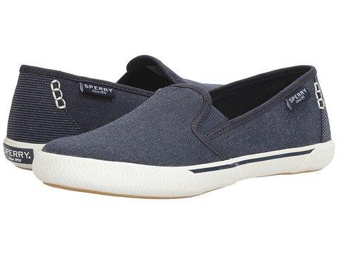 (スペリートップサイダー) SPERRY TOPSIDER レディースウォーキングシューズ?カジュアルスニーカー?靴 Quest Cay Canvas Navy 8.5 25.5cm M (B) [並行輸入品]
