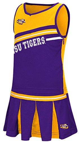 Girls Toddler LSU Tigers Purple Curling Cheer Set (2T)