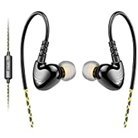 AGPTEK Adjustable Sport in-Ear Wired Earphone for Mp3 Players, Smartphones, Laptops, Tablets with 3.5mm Audio Line-in, 5 Sets Silicon Ear Buds (Green)