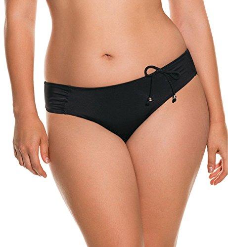 DORINA Curves Fiji Tab Side Bikini Swim Brief (D17023A),Small,Black