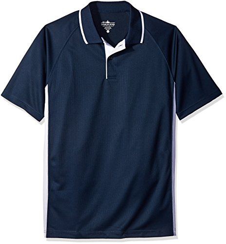 Charles River Apparel Men's Classic Wicking Polo, Navy/White, 5XL