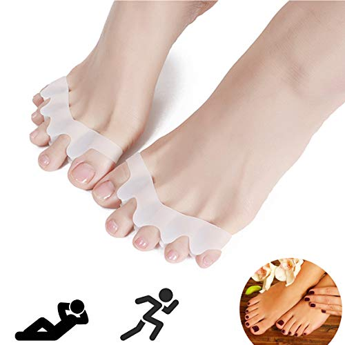 Toe Separators, Toe Spacers Toe Straightener Toe Protector Shoe Stretcher Bunion Splint, Gel Toe Separator Toe Stretchers Used for Yoga, Bunion Corrector Relaxing Toes for Women and Men Update