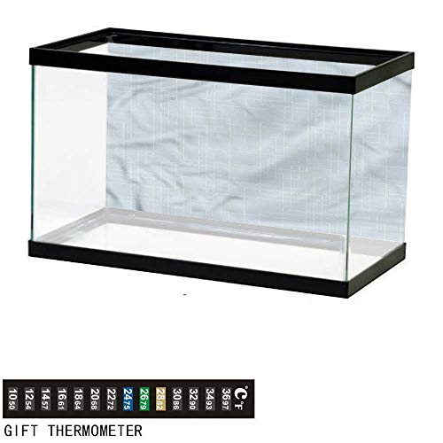 bybyhome Fish Tank Backdrop Contemporary,Grid Style Rectangles,Aquarium Background,72