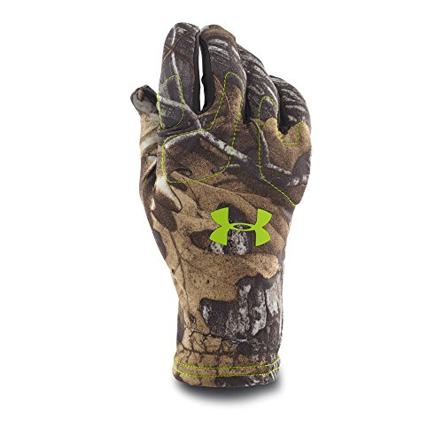 Under Armour Mens UA Scent Control Gloves Medium REALTREE - Under Hunting Armour Gloves