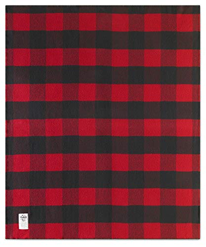 Woolrich Home Seven Springs Blanket, Buffalo Red/Black