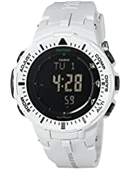 Casio Mens PRG-300-7CR Pro Trek Digital Watch with Off-White Band