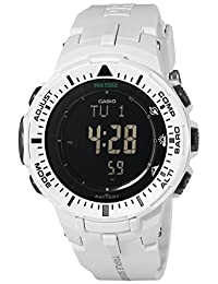 Casio Men's Triple Sensor Pro Trek White Watch
