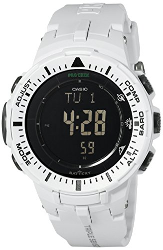Casio PRG 300 7CR Digital Watch Off White