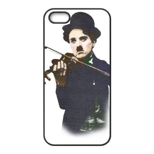 Charlie Chaplin Vintage 004 coque iPhone 4 4S cellulaire cas coque de téléphone cas téléphone cellulaire noir couvercle EEEXLKNBC24129