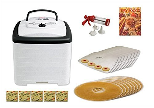 Nesco American Harvest FD-80 Square Dehydrator Value Package 8 Trays, Screens, Sheets, Book