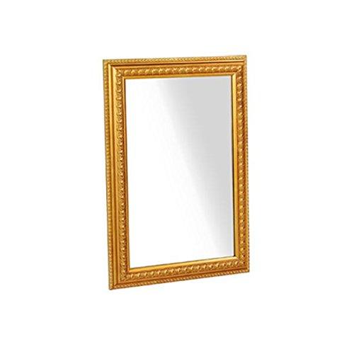 arne ウォールミラー 壁掛け 鏡 姿見 アンティーク 玄関 リビング ワイド 幅約50~60cm F-002WM4570 ゴールド B00SIZOB36 ゴールド ゴールド