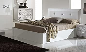 Amazon De Bett Maila Weiss 160x200cm Modern Mit Kreis Motiv Fur
