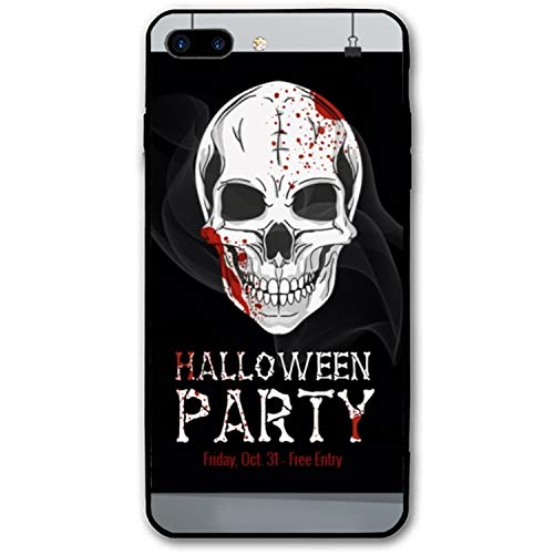 Halloween Printable Flyer Luxury Printed iPhone 8 Plus Cover Full Body Protect Compatible for iPhone8 Plus Case -