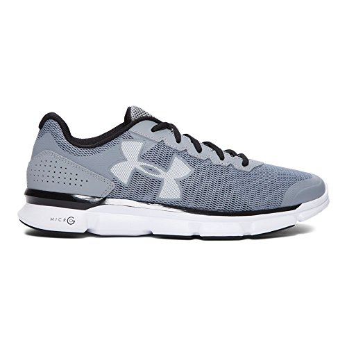 Under Armour Mens Ua Micro G Speed Swift Steel / Bianco / Nero