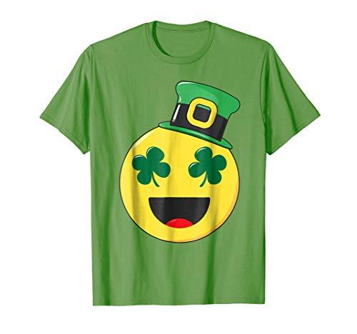 Happy St Patricks Day Emojicon Costume T Shirt Gift Tee Kids