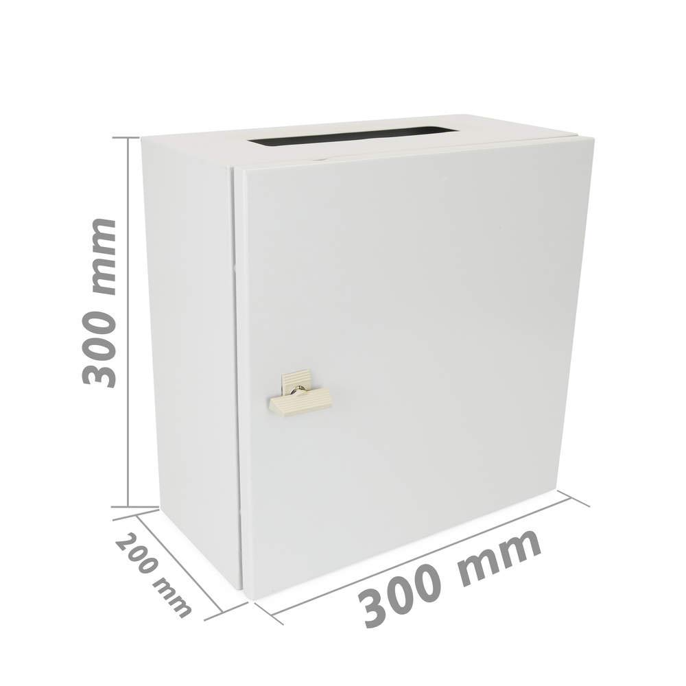 Cablematic –  Caja de distribució n elé ctrica de Metal IP65 para Montaje Pared 300 x 300 x 200 mm Cablematic.com PN23021518200125095