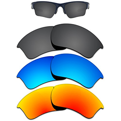 506117dba9 Kygear Replacement Lenses Different Colors for Oakley Half Jacket 2.0 XL  Sunglass Polarized Pack of 3