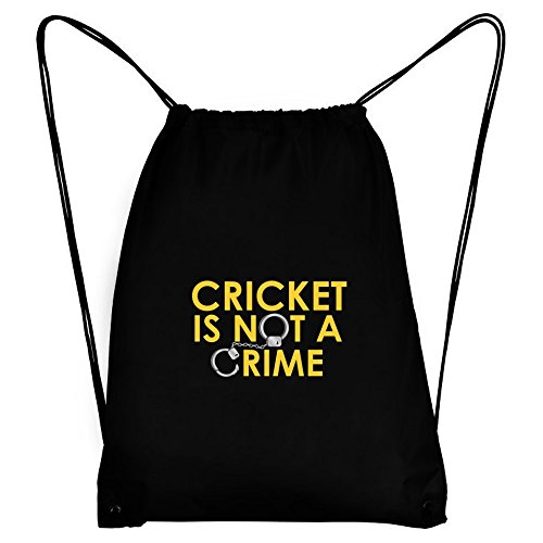 Teeburon Cricket is not a crime Sport Bag by Teeburon