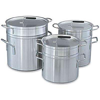 Vollrath 67711 Aluminum Double Boiler with 11 Qt Inset And 12 Qt Pot