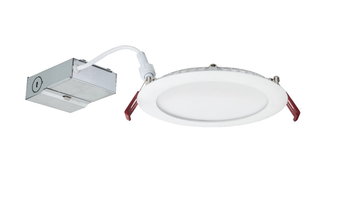 Lithonia Lighting WF6 LL LED 27K MW M6 Ultra-Thin Dimmable LED Recessed Ceiling Light, 2700K | Warm White, Matte White by Lithonia Lighting