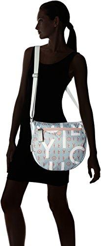 T x Sacs H Blue cm B Bleu Oilily épaule 12x30x34 femme Light portés Letters Lvz Groovy Shoulderbag wqq64Ia
