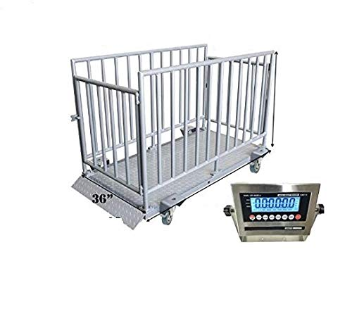 Cow Cattle Pig Goat Horse Sheep Hog Weight Checker with NTEP Certificate Digital Indicator 30 PEC Livestock Weigh Bar Set for Farm Animal Weighing