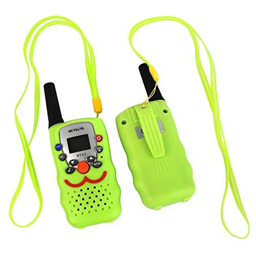 Retevis RT32 Kids Walkie Talkies 0.5W 22 Channels FRS UHF VOX Scan Call Alarm Monitor LED Flashlight Toy Walkie Talkies(Green, 1 Pair)