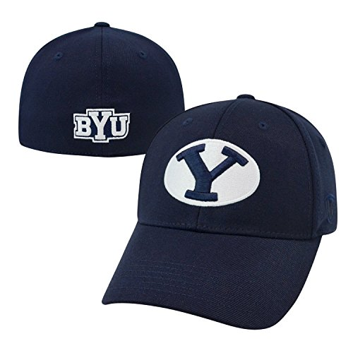 Top of the World Byu Cougars Official NCAA One Fit Premium Cuff Hat Cap by 262154