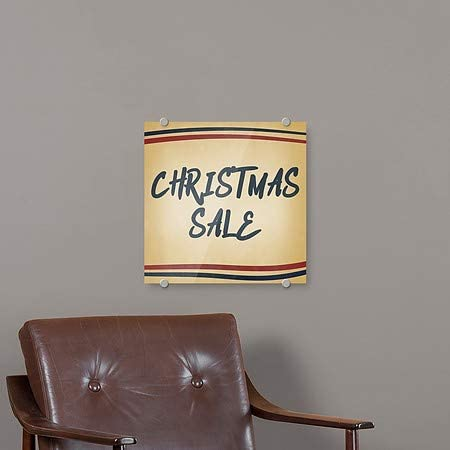 Nostalgia Stripes Premium Brushed Aluminum Sign CGSignLab Christmas Sale 5-Pack 16x16