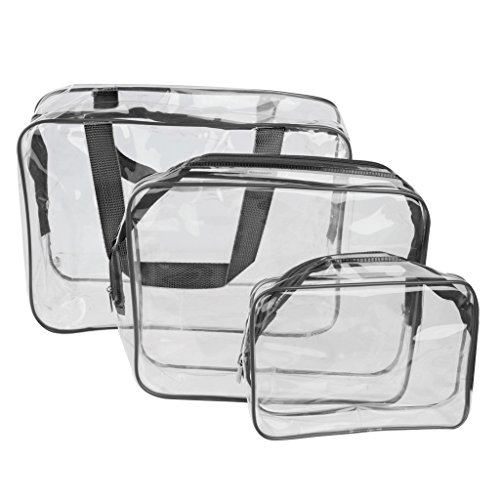 Transparent Cosmetic Toiletry Organizer Handbags