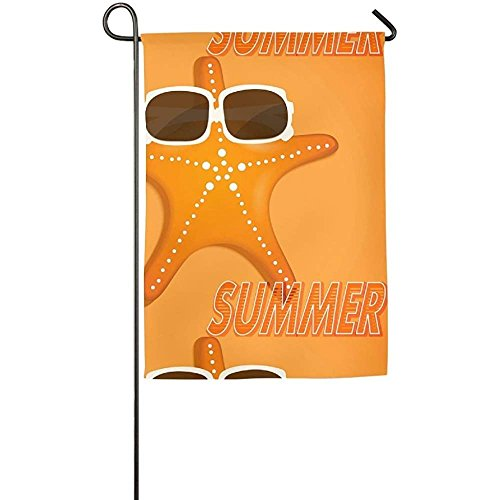 Garden Flag - Custom Bright Yellow Summer Yard Flag 12 X 18
