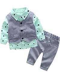 004dfc33f Toddler Little Infant Boys' Dressy 3 Pieces Cotton Clothes Set
