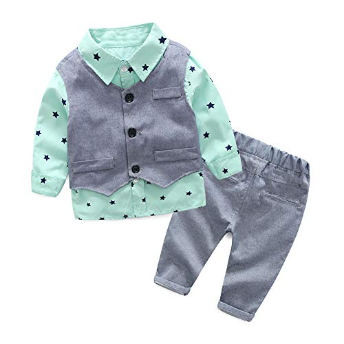 Baby Boy Sets 5-10 Months Toddler Outfit Children Clothing Size 70 Turquoise