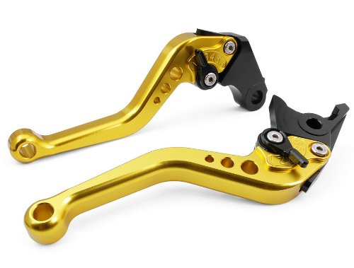 Pair Gold Motorcycle Racing CNC Billet Short Brake Clutch Levers For Yamaha YZF R6 1999 2000 2001 2002 2003 2004 (Y-688/F-14)