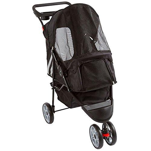 Black 3-Wheel Trail Terrain Pet Stroller Jogger (Stroller Oxford)