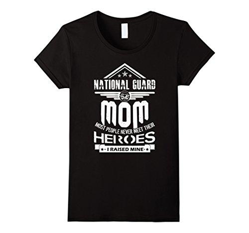 Womens National Guard Mom I Raise Mine Shirts XL Black