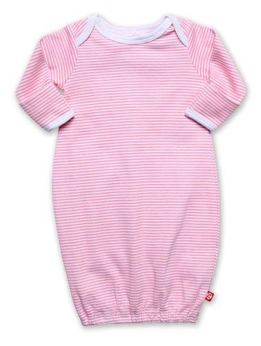 Gown Candy Stripe (Zutano Unisex-baby Newborn Candy Stripe Gown, Hot Pink, 3 Months)