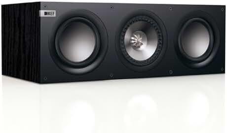 KEF Q200C Center Channel Loudspeaker - Black Ash (Single)