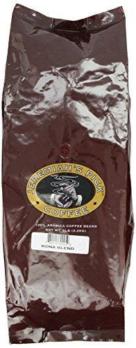Jeremiah's Pick Coffee Kona Combination, Whole Bean Coffee, 5-Pound Bag