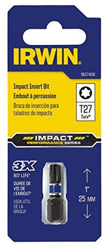 Irwin Tools 1837408 Impact Performance Series TORX T27 Insert Bit