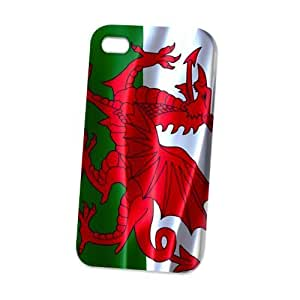 Case Fun Apple iPhone 4 / 4S Case - Vogue Version - 3D Full Wrap - Flag of Wales
