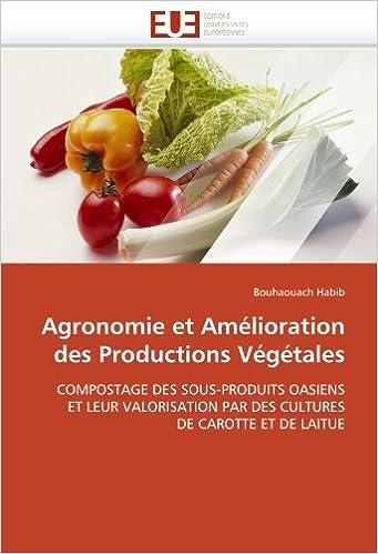 Livres Agronomie et Amélioration des Productions Végétales pdf epub